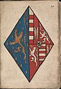 Alliantiewapen Nassau Loon-Heinsberg - Alliance coat of arms of Nassau Loon-Heinsberg - Wapenboek Nassau-Vianden - KB 1900 A 016, folium 20r.jpg