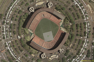 Aloha Stadium - Aerial view in baseball/soccer configuration