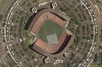 Aloha Stadium - Aerial view in baseball/soccer configuration