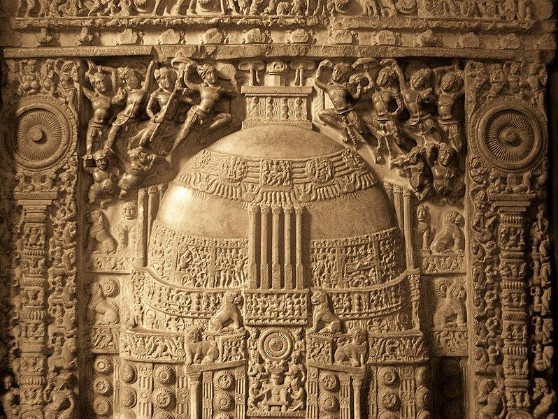 Amaravati Stupa relief at Museum.jpg