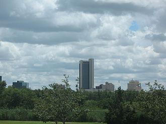 FirstBank Southwest Tower - FirstBank Southwest Tower dominates the skyline of downtown Amarillo.