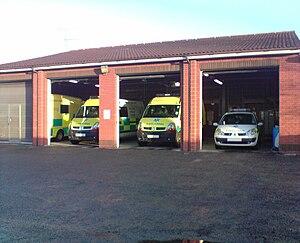 Ambulance station - A typical ambulance station.