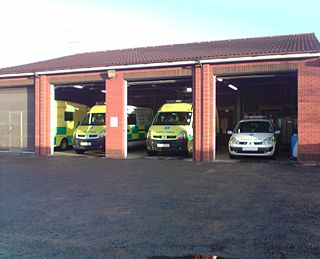 Ambulance station a structure or other area set aside for storage of ambulance vehicles