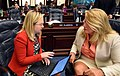 Amber Mariano confers with Kathleen Peters.jpg