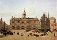 Dam Square in the late 17th century: painting by Gerrit Adriaenszoon Berckheyde