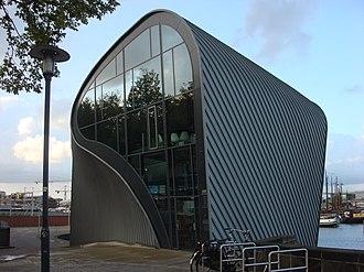 Amsterdam Centre for Architecture (ARCAM) - Arcam building on Prins Hendrikkade / Oosterdock