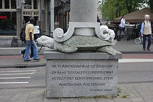 Jacob Israël de Haan - Poem by De Haan on a sculpture in Amsterdam