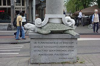 Jacob Israël de Haan - Poem by De Haan on a sculpture in Amsterdam