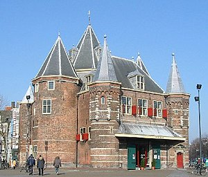 Walls of Amsterdam - The Waag, originally the city gate Sint Antoniespoort