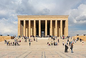 Anıtkabir - A frontal view of Anıtkabir.