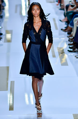 Anais Mali - Mali at the Diane Von Furstenberg Spring/Summer 2014 fashion show at New York Fashion Week.