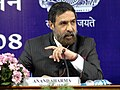 Anand Sharma addressing at the Annual Economic Editors' Conference-2008, oraganised by the Press Information Bureau, Ministry of Information & Broadcasting, Govt. of India, in New Delhi on November 26, 2008.jpg