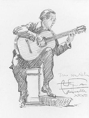 Andrés Segovia - Image: Andrés Segovia by Hilda Wiener (1877 1940)