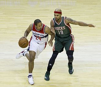 Jerryd Bayless - Bayless (right) with the Bucks in 2014