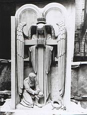 Anglican Cathedral. Liverpool. 55th Division Memorial. Plaster Model. 1926.jpg