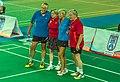 Ankara - BWF World Senior Badminton Championships - XD 70 Medalist - Schumacher-Gabriel (GER) - GOLD and Shadwick-Andrew (GBR) - SILVER (11078300553).jpg