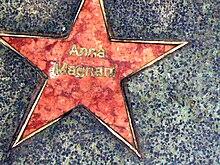 La stella dedicata ad Anna Magnani sulla Hollywood Walk of Fame