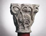 Anonyme toulousain - Chapiteau de colonne simple , Oiseaux dans des lianes - Musée des Augustins - ME 227 (3).jpg
