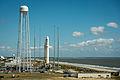 Antares Orb-D1 rocket on pad at Wallops (201309170004HQ).jpg