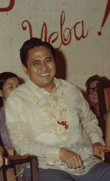 Antonio J. Villegas, Mayor of Manila, 1970.jpg