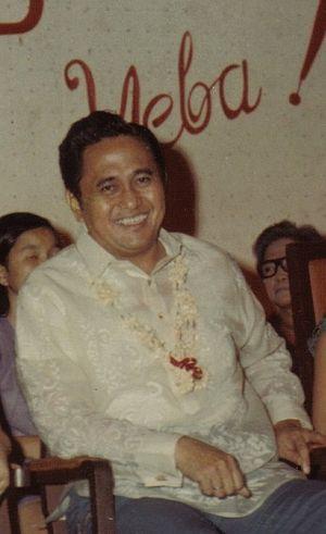 "Metro Manila Film Festival - Mayor of Manila Antonio Villegas in 1970, founder of the ""Manila Film Festival""."