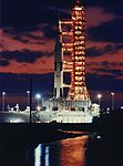Apollo 6 on the pad at sunset.jpg