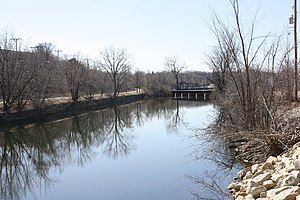 National Register of Historic Places listings in Outagamie County, Wisconsin - Image: Appleton Lock 4Historic District WI Fox River
