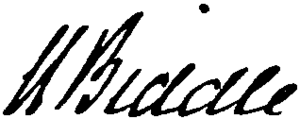 Nicholas Biddle (banker) - Image: Appletons' Biddle Nicholas financier signature