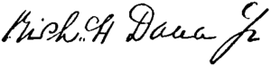 Richard Henry Dana Jr. - Image: Appletons' Dana Richard Richard Henry Jr signature