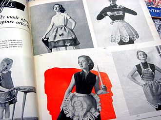 Apron - 1950's apron advertisement