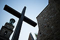 Apsis cross Aegidienkirche memorial Breite Strasse Mitte Hannover Germany 01.jpg