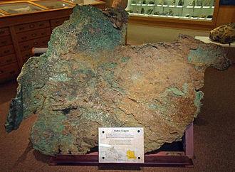 Victoria Island (Canada) - Large native copper specimen from the Saneraum Hills, Victoria Island