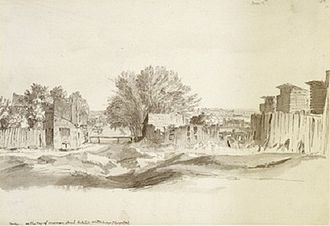 Cleveland Street, London - Area before Cleveland Street (Norfolk St) was laid out in 1774