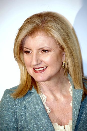 English: Arianna Huffington attending the prem...