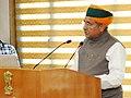 Arjun Ram Meghwal addressing at the inauguration of the 'Mahalekha Niyantrak Bhawan', the new premises of Office of the Comptroller General of Accounts (CGA), in New Delhi.jpg