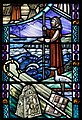 Armagh St. Patrick's Cathedral of the Church of Ireland South Aisle W12 Millennium Window Detail Saint Columba 2019 09 09.jpg