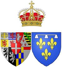 Arms of Anne Marie d'Orléans (1669-1728), Queen of Sardinia.jpg