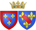 Arms of Louise Élisabeth de Bourbon as Princess of Conti.png