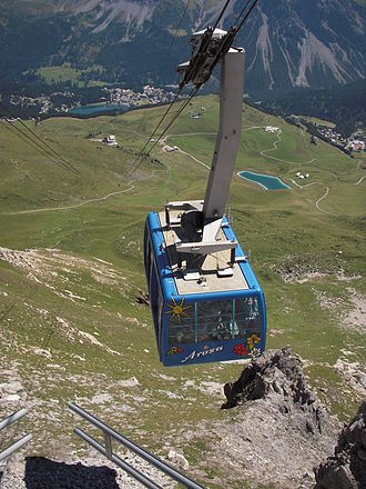 Aroser Weisshorn - Arosa seen from the top station