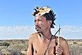 Arri Raats, Kalahari Khomani San Bushman, Boesmansrus camp, Northern Cape, South Africa (20543097315).jpg