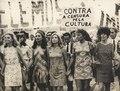 Artistas protestam contra a Ditadura Militar - Tônia Carreiro, Eva Wilma, Odete Lara, Norma Bengell e Cacilda Becker.tif