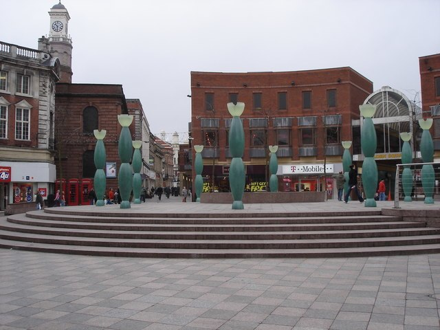 Artworks in Warrington Town Centre - geograph.org.uk - 1162308