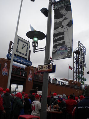 Richie Ashburn - Richie Ashburn banner in Ashburn Alley, Citizens Bank Park