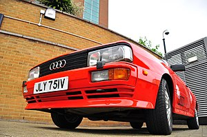 Gene Hunt - Gene Hunt's Quattro in the car park of BBC Television Centre