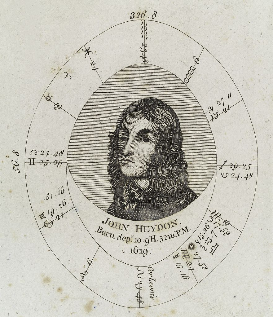 Personal Natal Chart: Astrological birth chart for John Heydon Wellcome L0040339 ,Chart