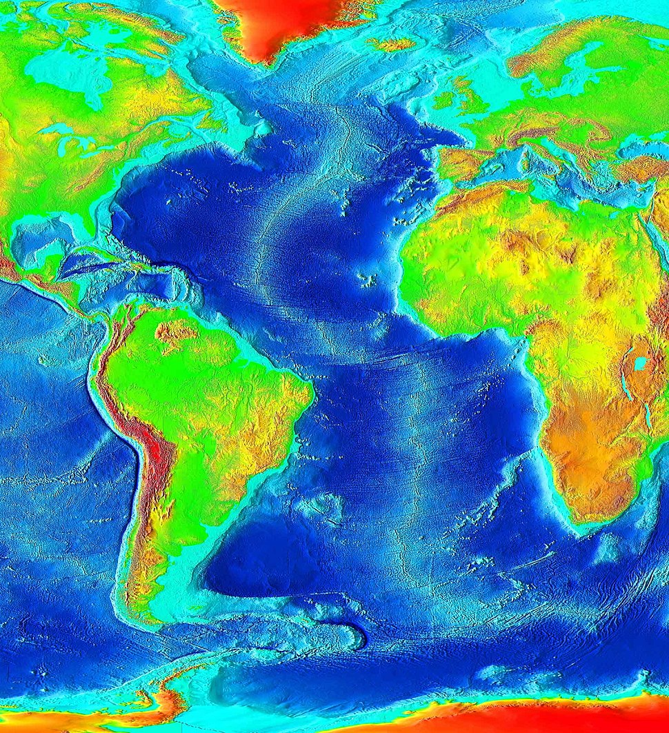 Atlantic bathymetry