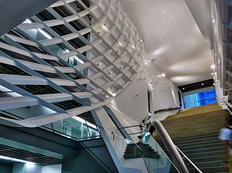 41 Cooper Square - Main Atrium and Grand Staircase of 41 Cooper Square