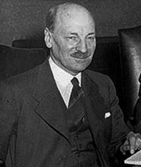 Clement Attlee, UK Prime Minister in the Labour Party government of 1945–51