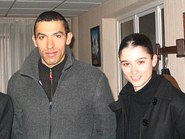 Christelle Laura Douibi (rechts) en Noureddine Bentoumi in 2006