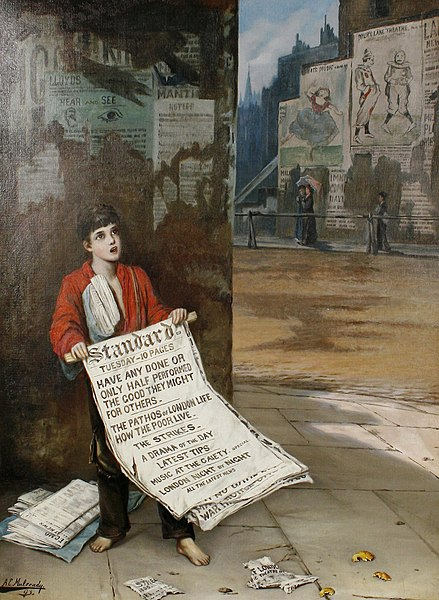 File:Augustus Edwin Mulready A London Newsboy 1893.jpg